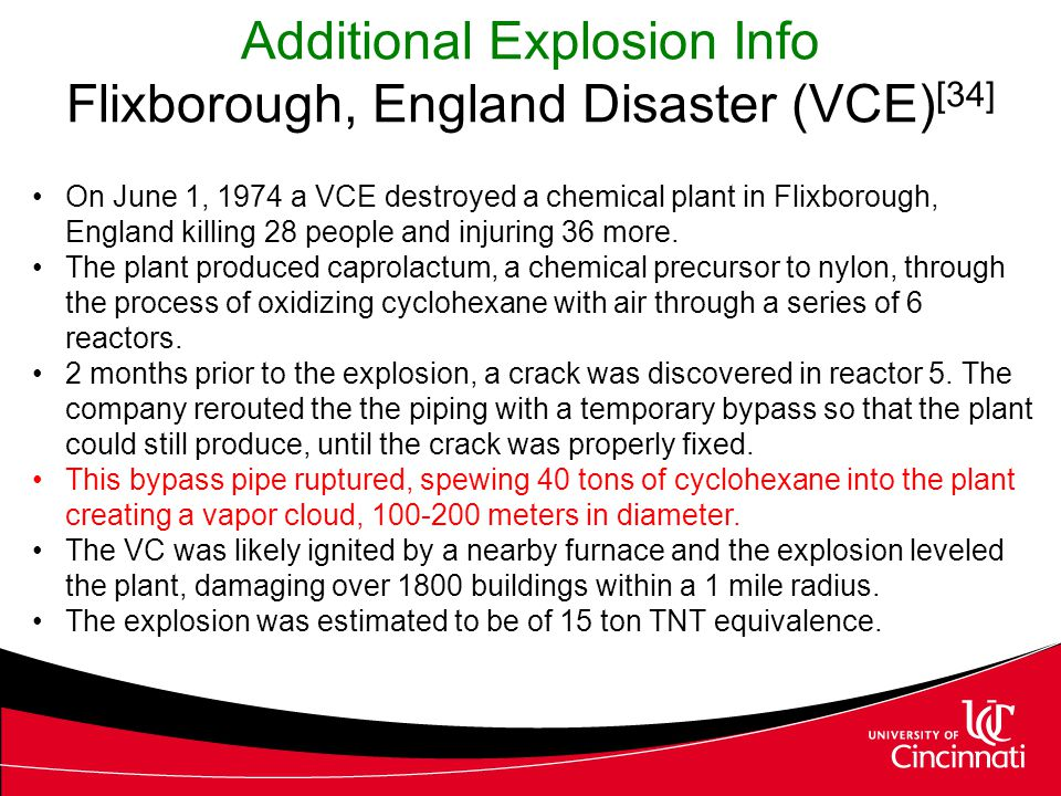 Additional Explosion Info Flixborough, England Disaster (VCE)[34]